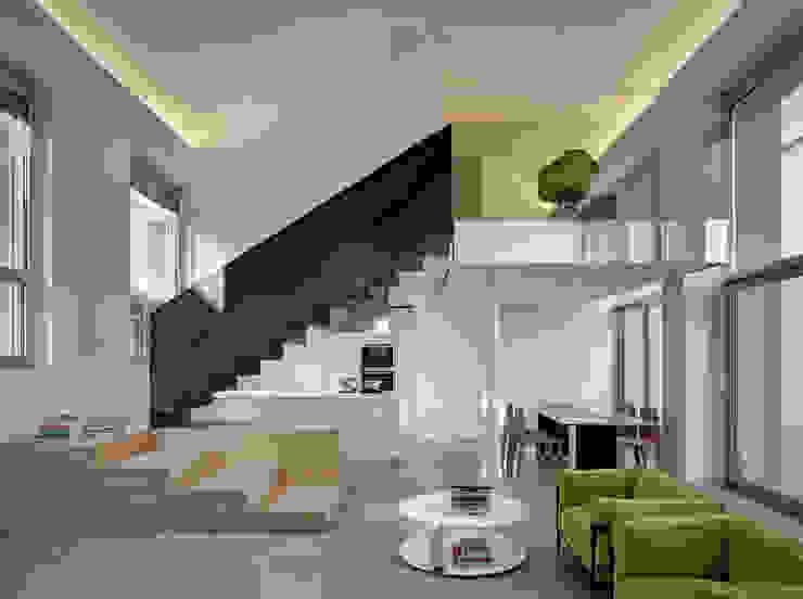 Loft PAR Soggiorno minimalista di Buratti Architetti Minimalista