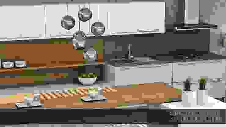 innamorato Modern Mutfak EN+SA MİMARİ TASARIM DEKORASYON MOB.İNŞ.SAN. VE TİC .LTD. ŞTİ Modern Ahşap Ahşap rengi