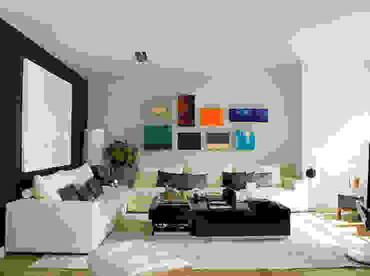 APARTAMENTO LAPA Salas de estar modernas por Artica by CSS Moderno