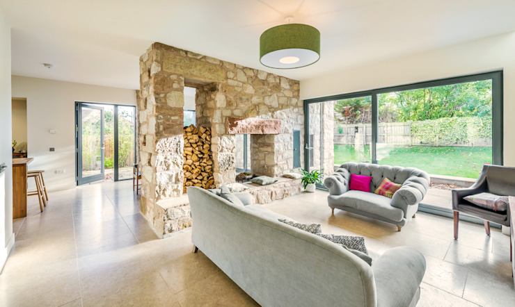 Solid House, North Berwick Modern living room by Chris Humphreys Photography Ltd Modern
