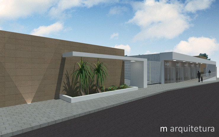 Residência + Lojas Casas modernas por M Arquitetura Moderno