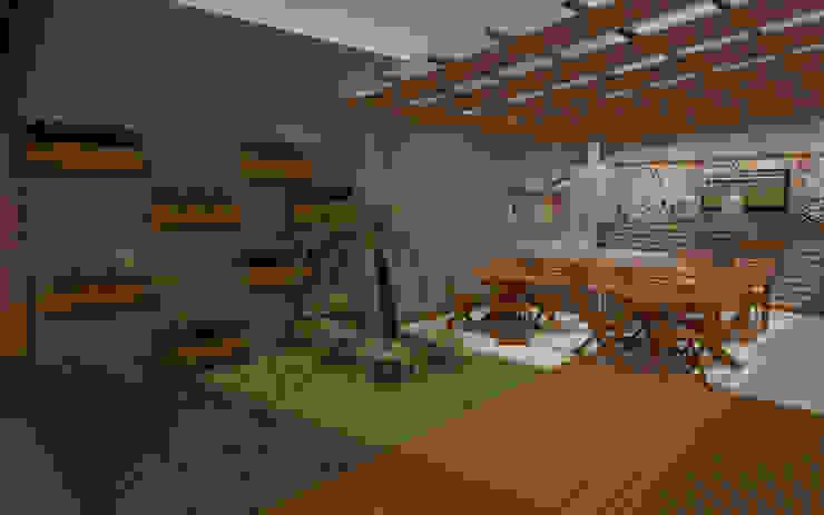 Espaço Gourmet Poço Rico Varandas, alpendres e terraços modernos por M Arquitetura Moderno