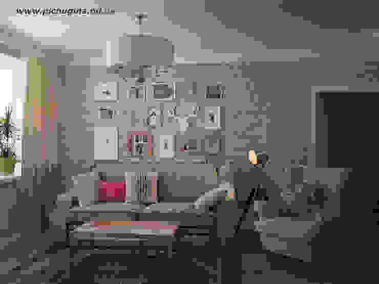 غرفة المعيشة تنفيذ Tatyana Pichugina Design, إنتقائي