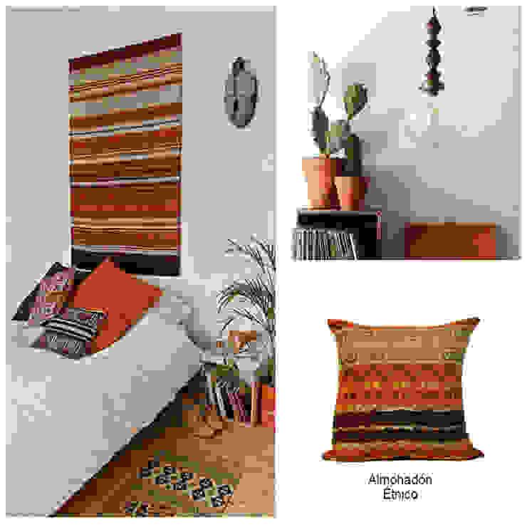Almohadón étnico:  de estilo  por Neyque,Ecléctico Textil Ámbar/Dorado