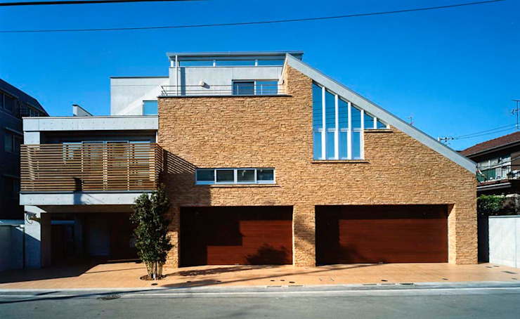 Houses by 株式会社 t2・アーキテクトデザイン 一級建築士事務所, Modern Concrete