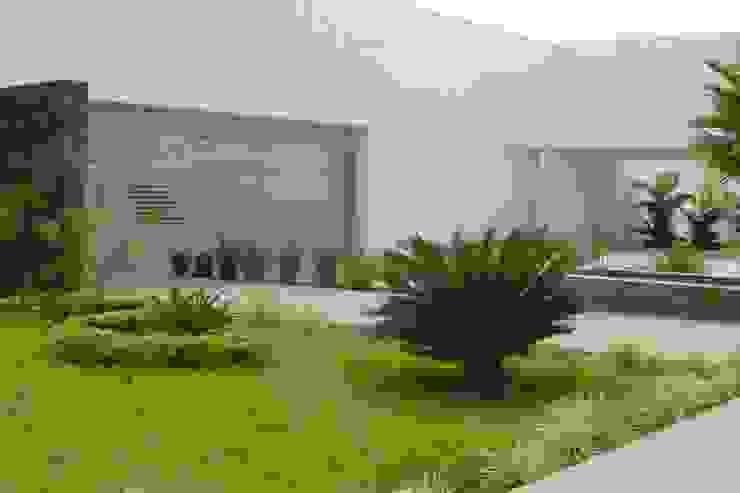 Jardines interiores en acceso Jardines minimalistas de EcoEntorno Paisajismo Urbano Minimalista