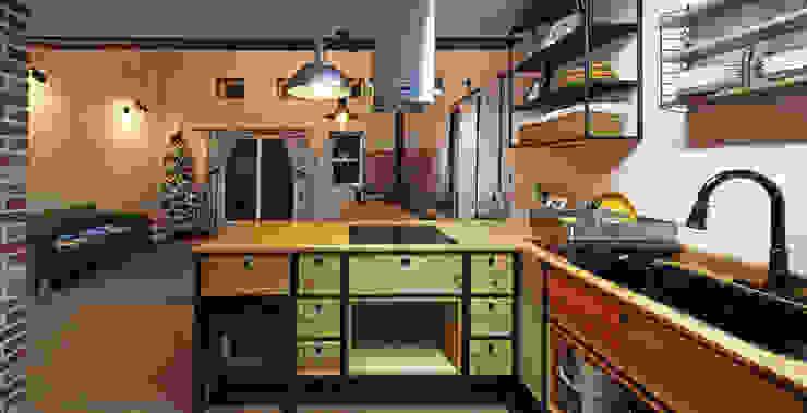 Mediterranean style kitchen by 윤성하우징 Mediterranean