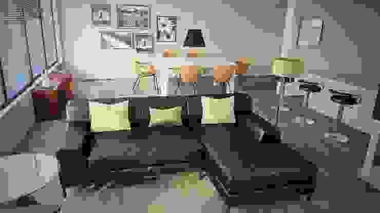 Proyecto Sala Salas modernas de Pigmento 3D Moderno