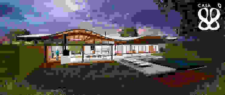미니멀리스트 주택 by Atelier O'Reilly Architecture & Partners 미니멀 우드 우드 그레인