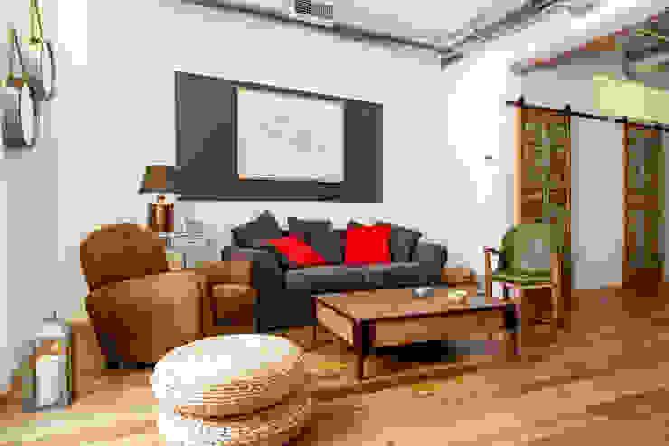 Rustikale Wohnzimmer von The Sibarist Property & Homes Rustikal
