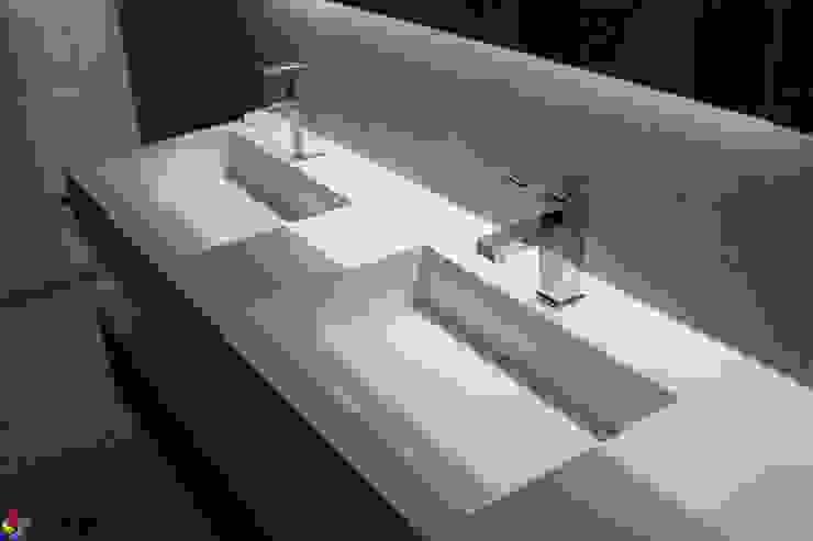 Nowoczesna łazienka w szarościach z produktami od Luxum Nowoczesna łazienka od Luxum Nowoczesny