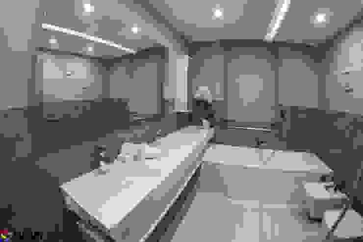 Nowoczesna łazienka w szarościach z produkami od Luxum Nowoczesna łazienka od Luxum Nowoczesny