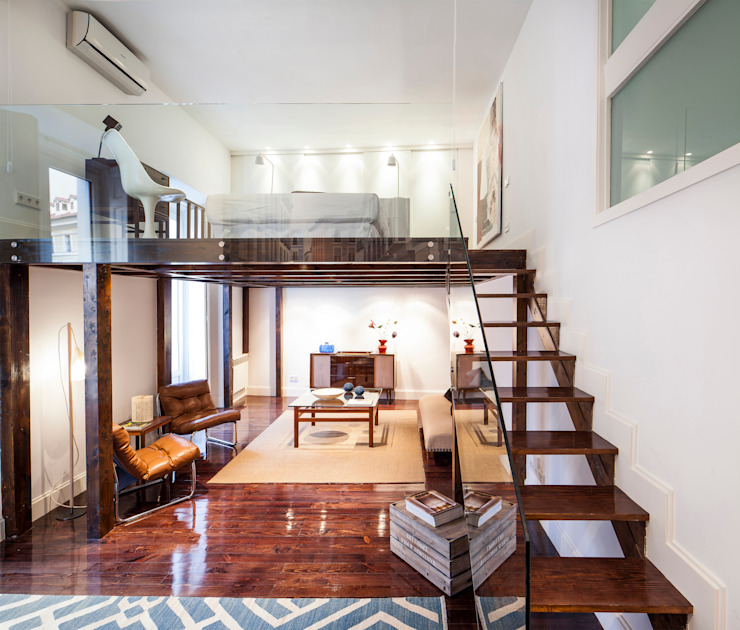 Ths Mad Loft Salones modernos de The Sibarist Property & Homes Moderno