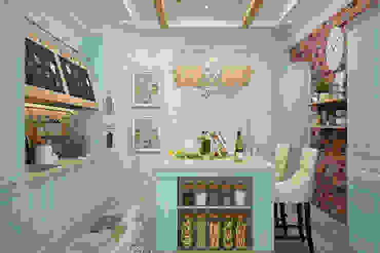 廚房 by Студия дизайна Дарьи Одарюк, 地中海風
