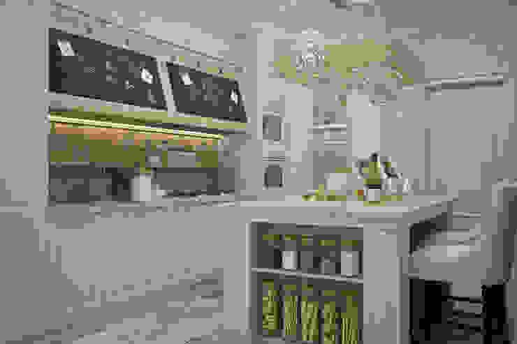 مطبخ تنفيذ Студия дизайна Дарьи Одарюк, بحر أبيض متوسط