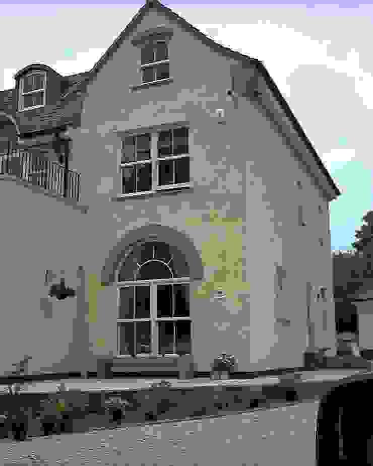 Feature windows tall sash windows with half circle round tops Marvin Windows and Doors UK Pintu & Jendela Gaya Kolonial Kayu White