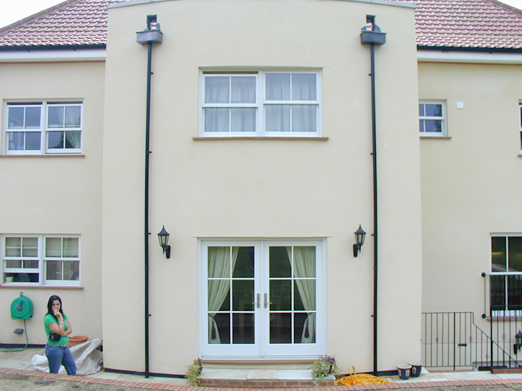 Traditional sash windows and French doors Marvin Windows and Doors UK Pintu & Jendela Gaya Kolonial Kayu White
