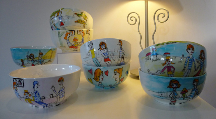 bégé art ArtworkOther artistic objects Porcelain Multicolored