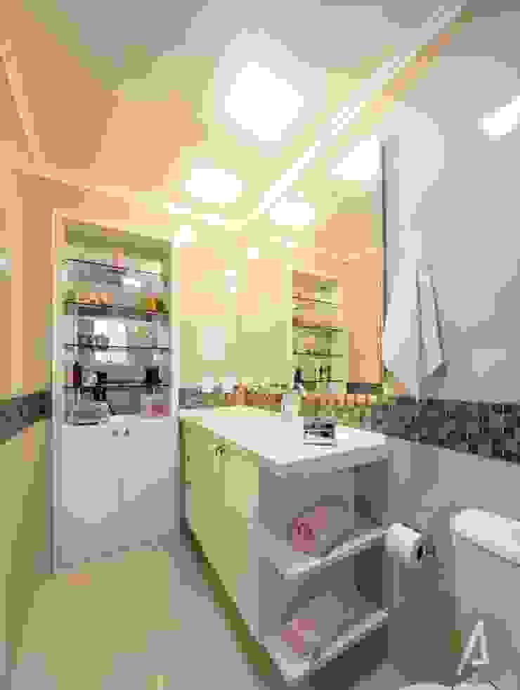 AP 11_Suíte da Menina Banheiros modernos por América Arquitetura Moderno