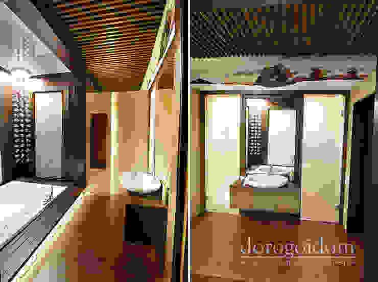 Шале в Крымских горах: Ванные комнаты в . Автор – Дорогой Дом,