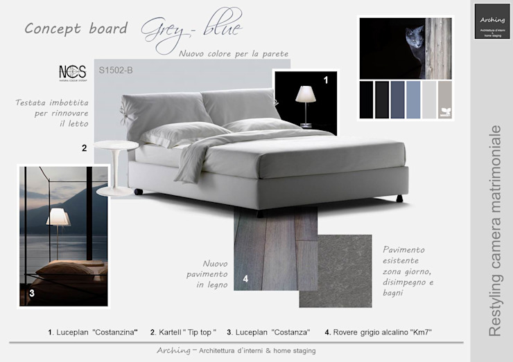 Grey Blue - Restyling zona notte di Arching - Architettura d ...