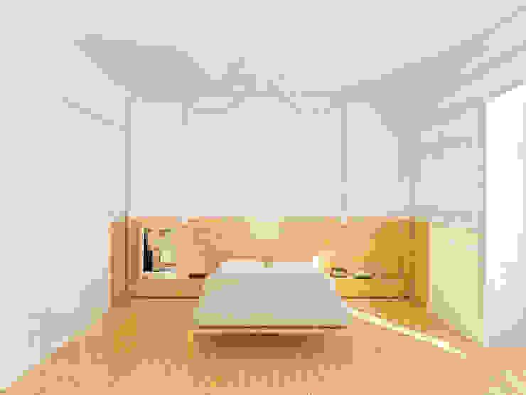 Remodelação de apartamento na Estrela, em Lisboa, de Aurora Arquitectos Quartos modernos por AURORA ARQUITECTOS Moderno