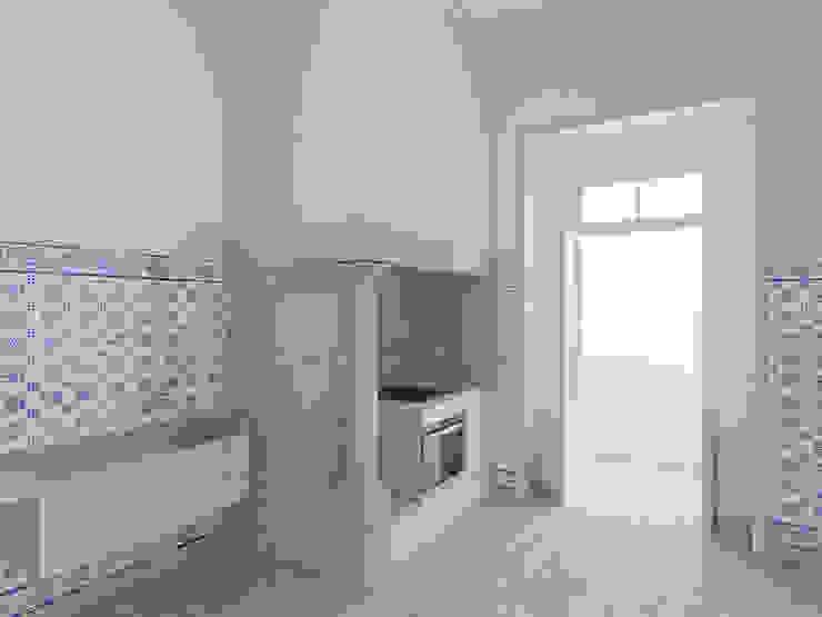 Remodelação de apartamento na Estrela, em Lisboa, de Aurora Arquitectos Cozinhas modernas por AURORA ARQUITECTOS Moderno