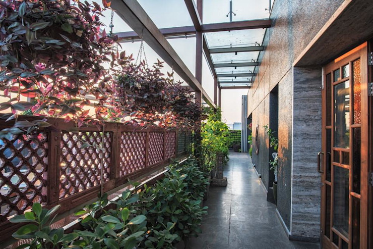 The World of Veg Modern corridor, hallway & stairs by Archtype Modern