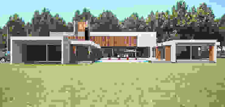 CASA DE HORMIGÓN - Autores: Mauricio Morra Arq., Diego Figueroa Arq. Casas modernas: Ideas, imágenes y decoración de Mauricio Morra Arquitectos Moderno