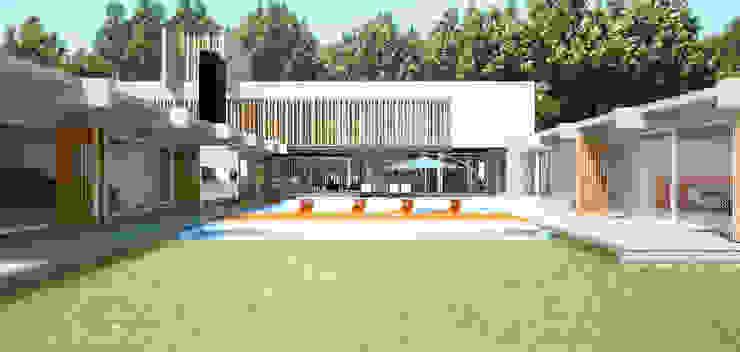 CASA DE HORMIGÓN - Autores: Mauricio Morra Arq., Diego Figueroa Arq. Jardines modernos: Ideas, imágenes y decoración de Mauricio Morra Arquitectos Moderno