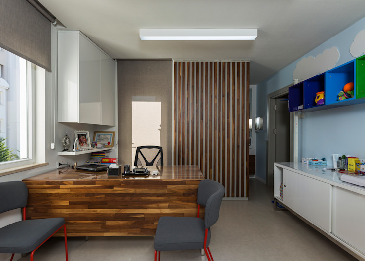 MUAYENE ODASI Modern Klinikler Mimoza Mimarlık Modern