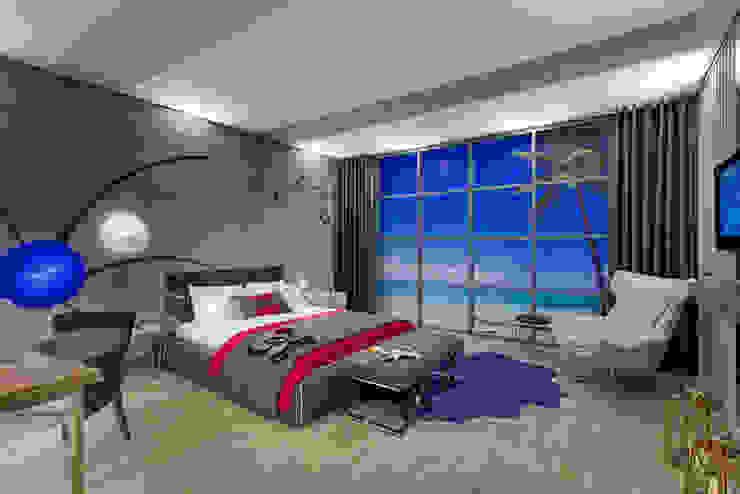 Hôtels modernes par Mimoza Mimarlık Moderne