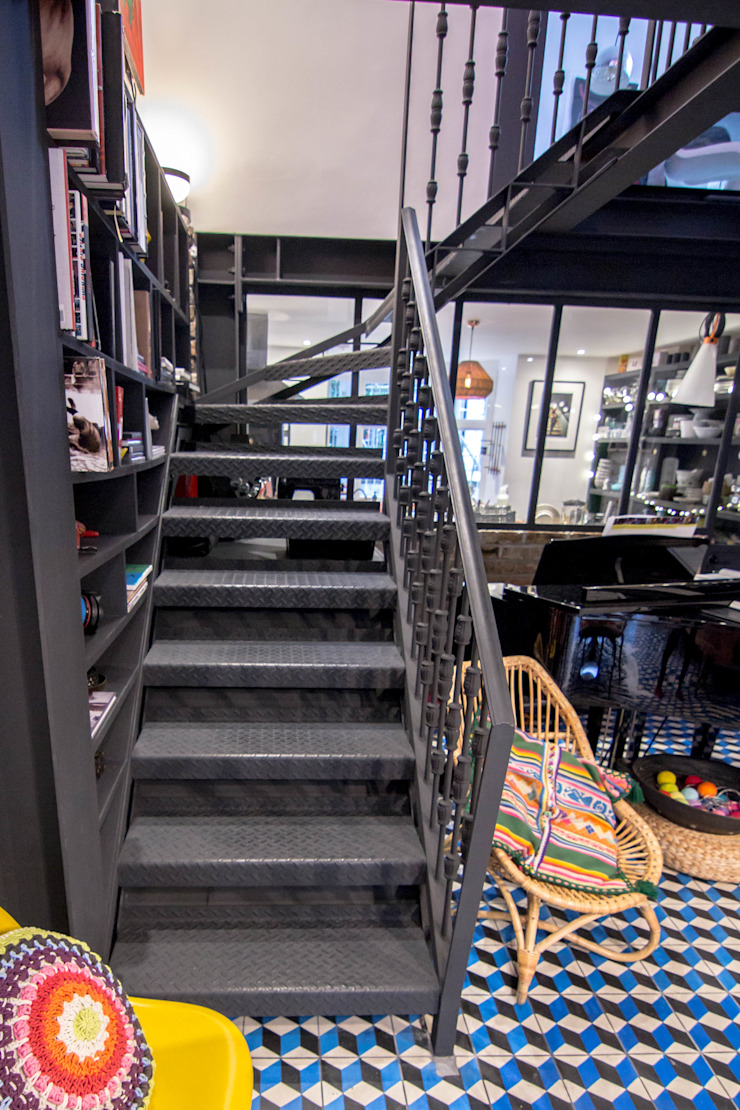 Glass Infill Photo Gallery: Metal Staircase, Walk On Glass Panel And Glass Infill Panels To The Kitchen And Bathroom De