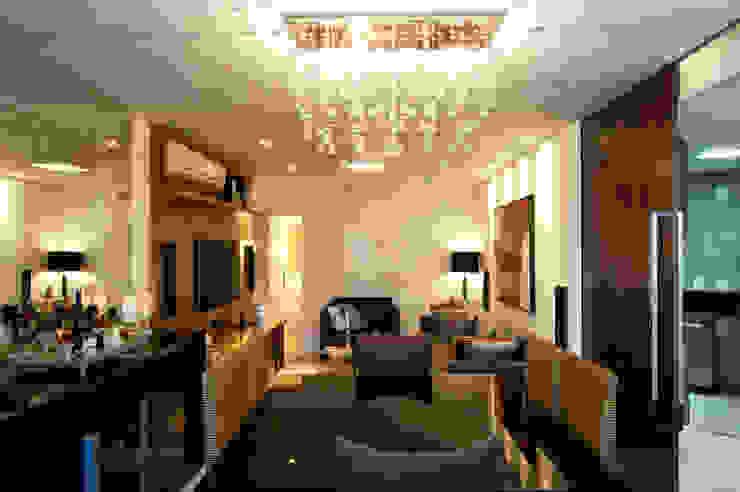 Sala de Jantar Integrada Salas de jantar modernas por Régua Arquitetura Moderno