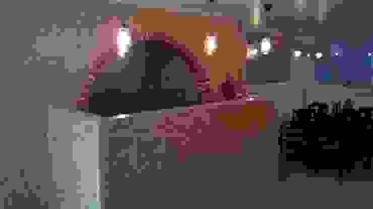 Bancada de Bar com painel decorativo em OSB. por knowhowtobuild