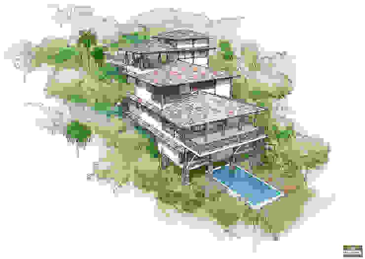 โดย MADUEÑO ARQUITETURA & ENGENHARIA ชนบทฝรั่ง ไม้ Wood effect