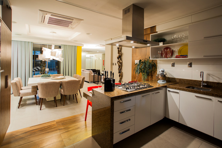 Res. Batista Campos Cozinhas modernas por L+A Arquitetura de iluminação Moderno