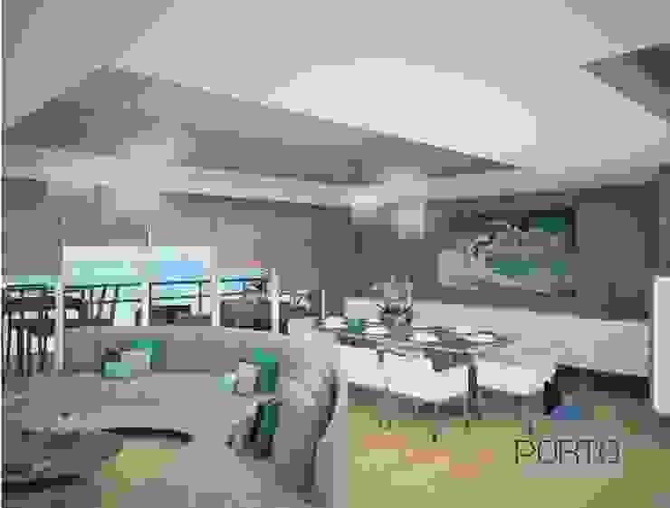 Proyecto Penthouse Bahía de Acapulco Comedores eclécticos de PORTO Arquitectura + Diseño de Interiores Ecléctico