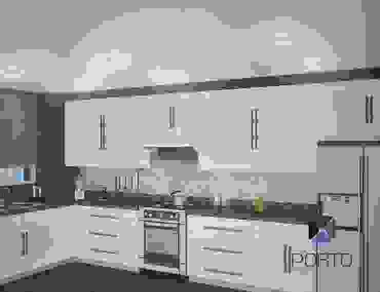 Proyecto Penthouse Bahía de Acapulco Cocinas eclécticas de PORTO Arquitectura + Diseño de Interiores Ecléctico
