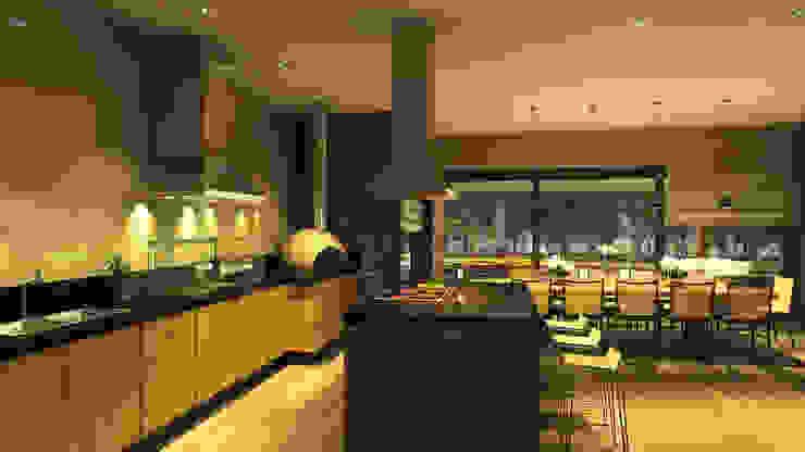 CASA ILHA DE NISYROS Cozinhas modernas por Eduardo Novaes Arquitetura e Urbanismo Ltda. Moderno