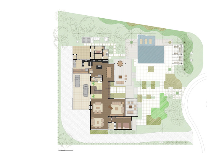 CASA ILHA DE NISYROS Salas de estar modernas por Eduardo Novaes Arquitetura e Urbanismo Ltda. Moderno