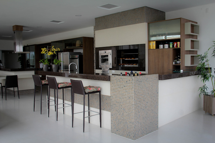 Cozinhas  por Andrea F. Bidóia Arquiteta, Moderno