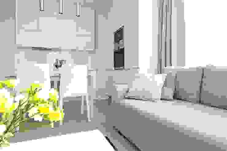 Apartament wielbicielki czerwieni Nowoczesna kuchnia od I Home Studio Barbara Godawska Nowoczesny