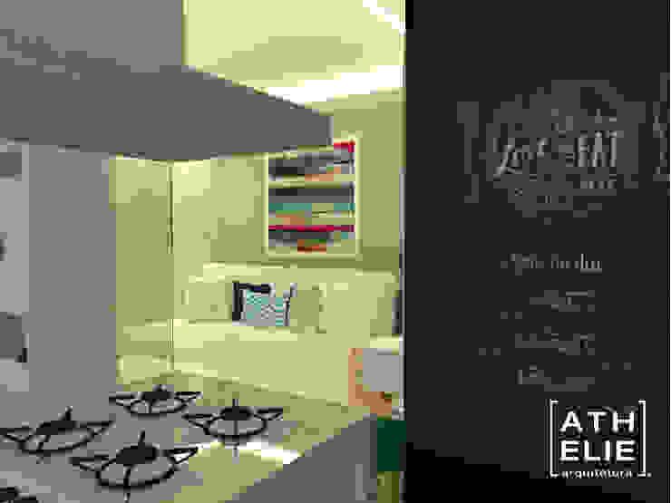 Sala de Estar e Cozinha [Living and kitchen] Salas de estar modernas por ATHeliê Arquitetura Moderno
