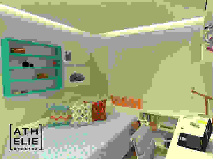 Home office/ Quarto de hóspedes [ Home Office/Guest Bedroom] Quartos modernos por ATHeliê Arquitetura Moderno
