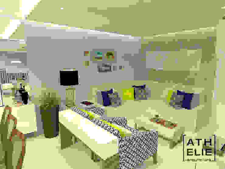 Sala de Estar integrada Salas de estar modernas por ATHeliê Arquitetura Moderno