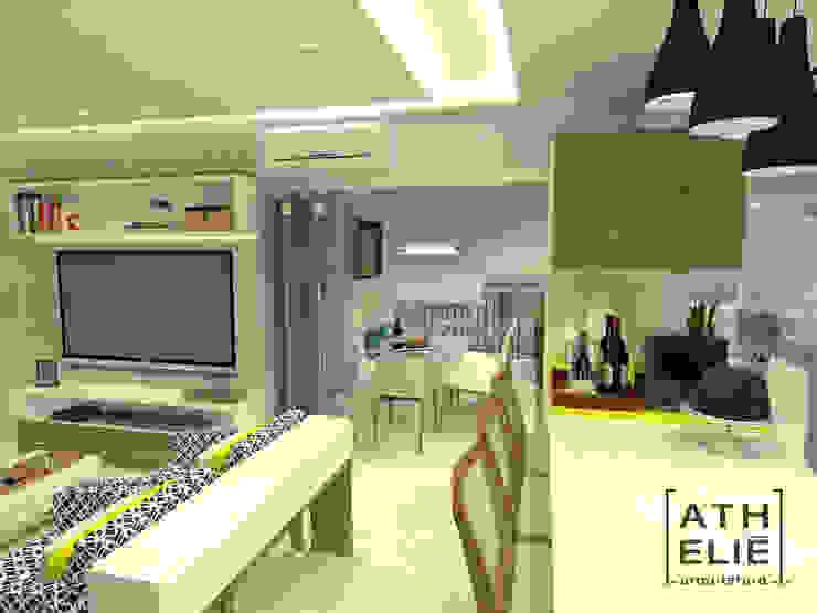 Sala de Estar e Cozinha integrados Salas de estar modernas por ATHeliê Arquitetura Moderno