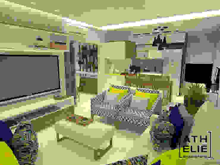 Sala de Estar integrada Cozinhas modernas por ATHeliê Arquitetura Moderno