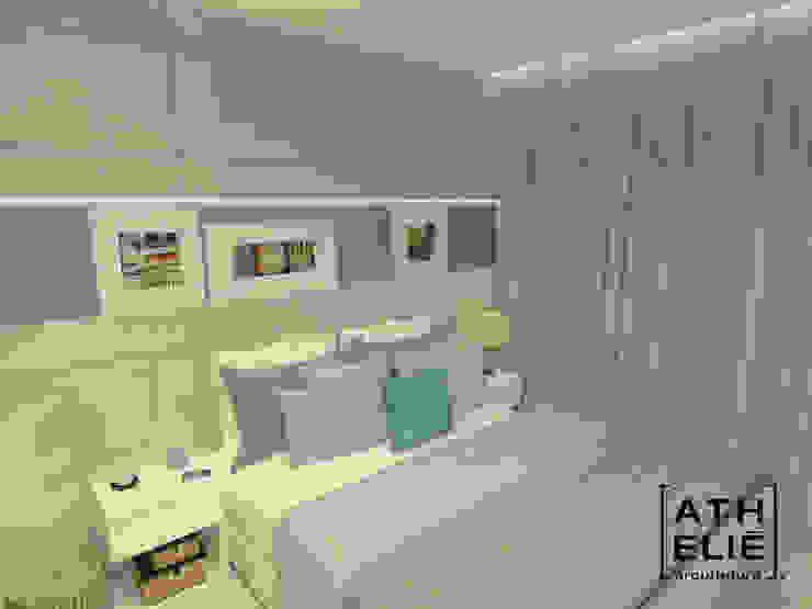 Dormitório Casal Quartos modernos por ATHeliê Arquitetura Moderno