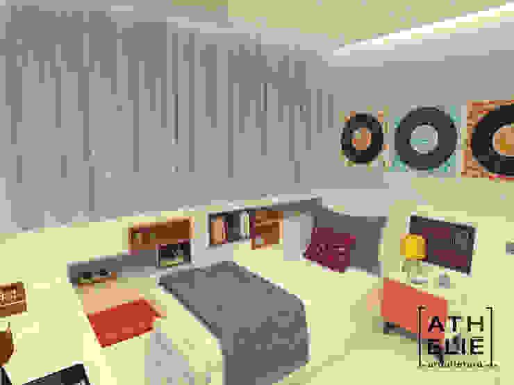 Dormitório jovem Quartos modernos por ATHeliê Arquitetura Moderno